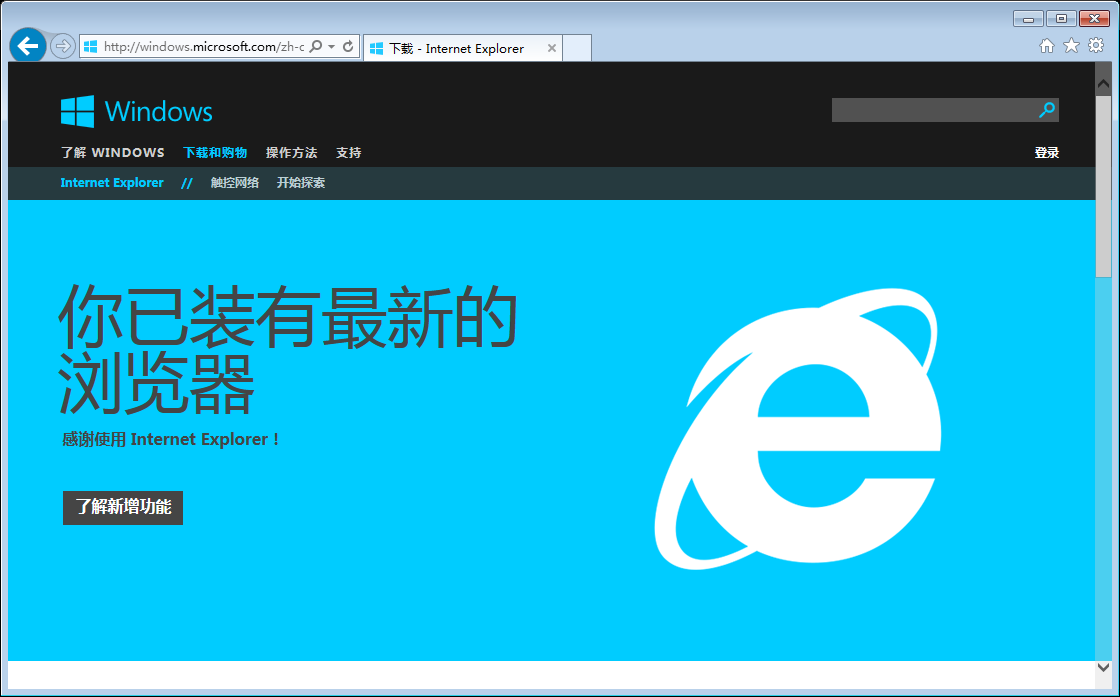 IE11 Win7 正式版(64位)