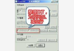 自动整理TXT小说工具(FinalTXT) 绿色版
