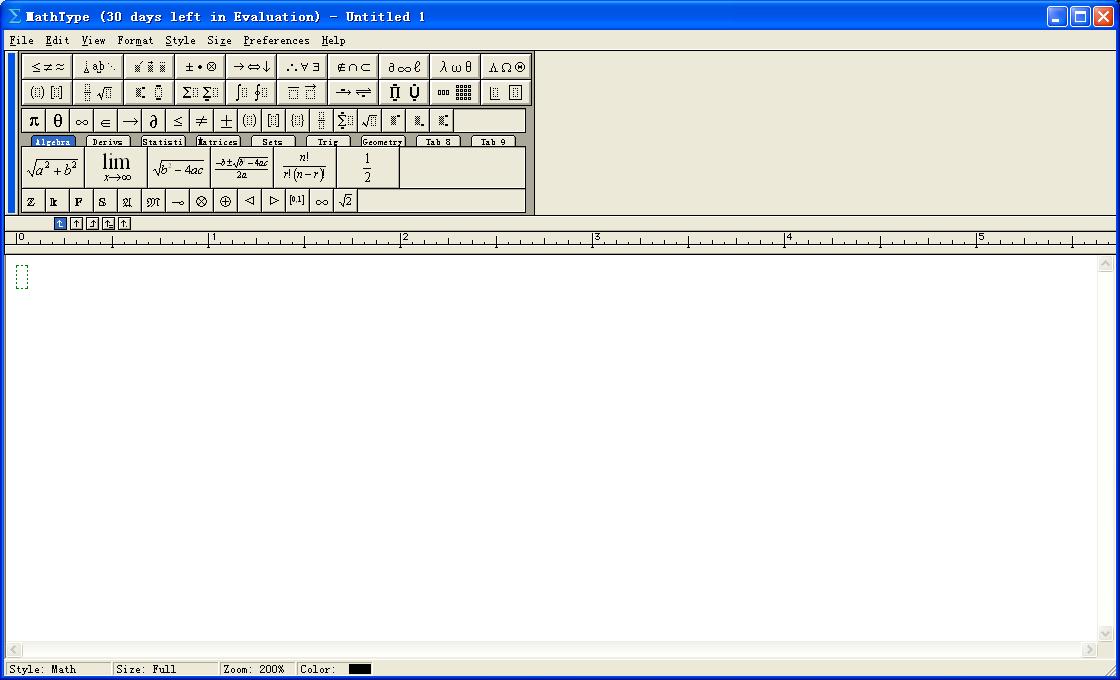 MathType数学公式编辑器